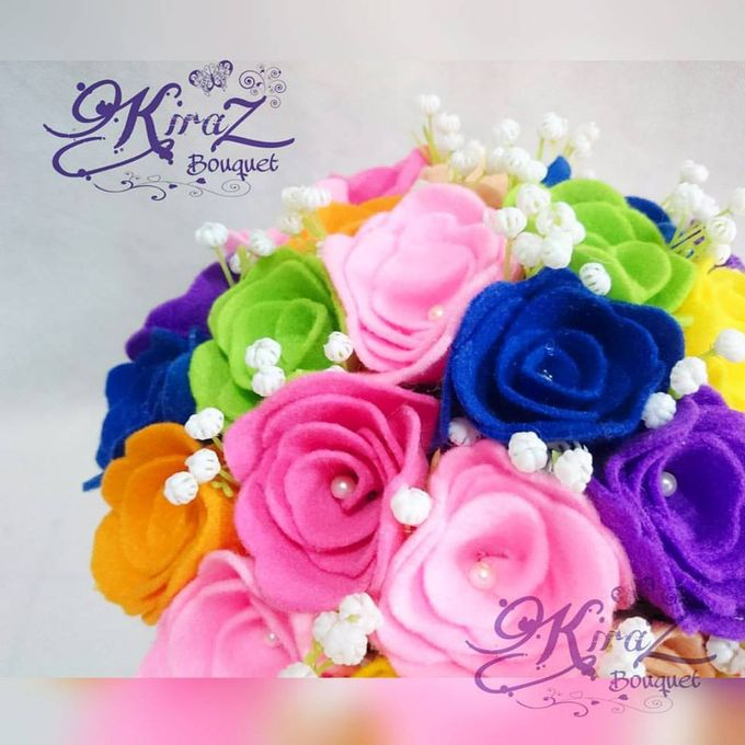 rainbow flower in the box by Kiraz Bouquet - 001