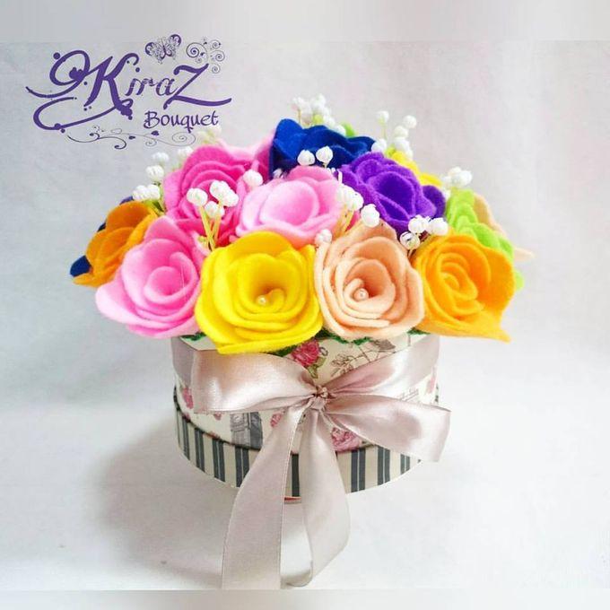 rainbow flower in the box by Kiraz Bouquet - 003