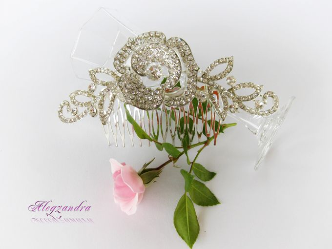 Bridal Hair Comb by Pamela Falli - 011