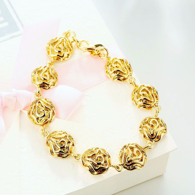 TIARIA Rose Shaped Gold Bracelet Perhiasan Gelang Emas by TIARIA - 004