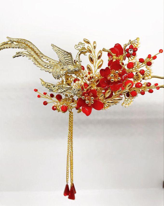 CustomMade Sangjit Fan & Hairpin by Brides Choice - 003