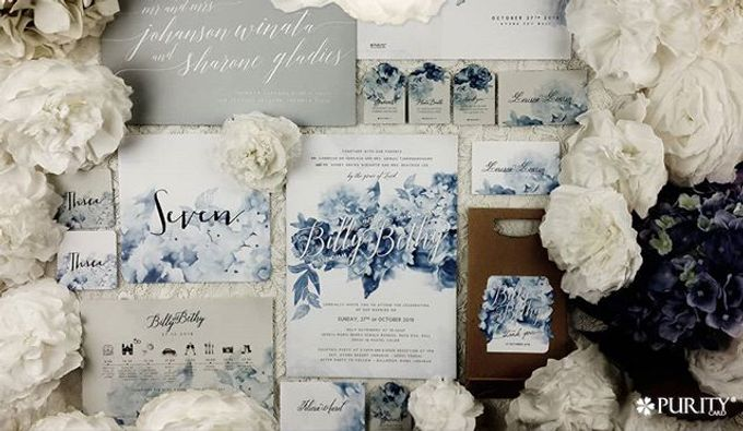 Hydrangea Blossoms Invitation by PurityCard - 005
