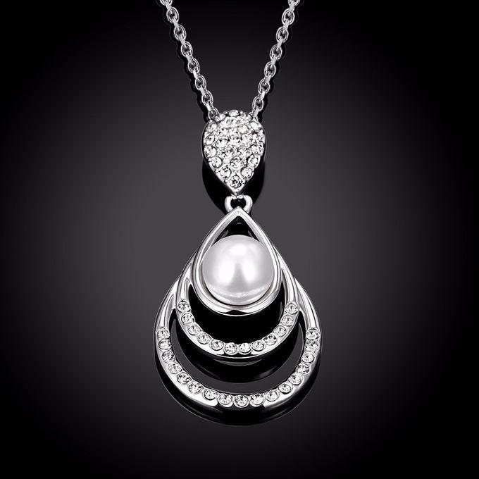 TIARIA Diamond Enlarged Pearl Gold Necklace Perhiasan Emas Kalung Berlian by TIARIA - 005