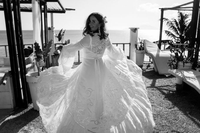 Boho-chic wedding in Seychelles by Evelina Korneevets - 014
