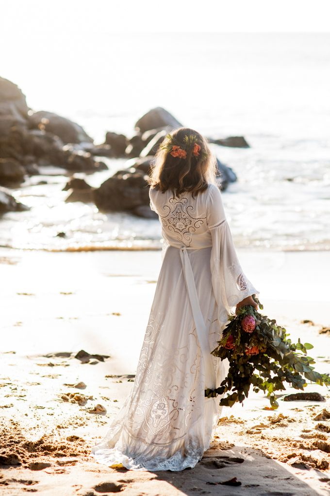 Boho-chic wedding in Seychelles by Evelina Korneevets - 037