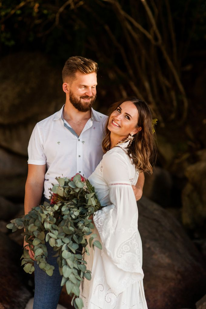 Boho-chic wedding in Seychelles by Evelina Korneevets - 041