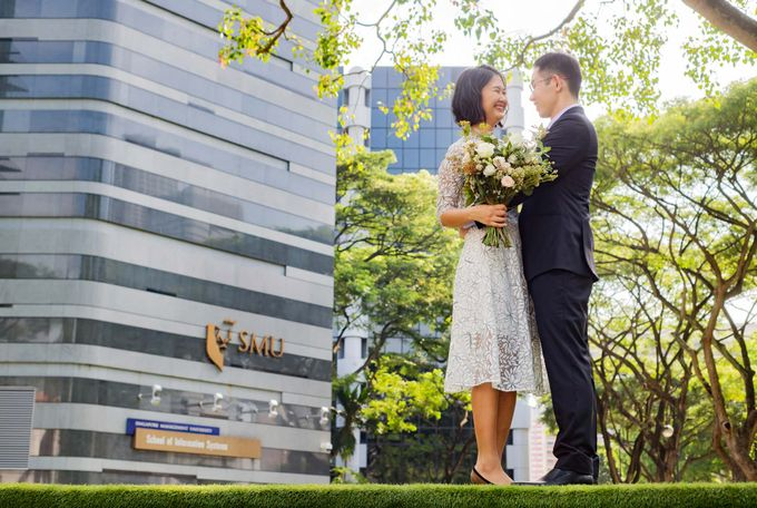 Pre-Wedding Shoot at SMU by GrizzyPix Photography - 001