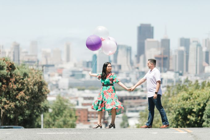 A Sunny San Francisco California Engagement Session by Foreveryday Photography - 003