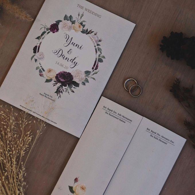 Wedding Invitation Flower Yuni & Dandy by Sae Creative - 004