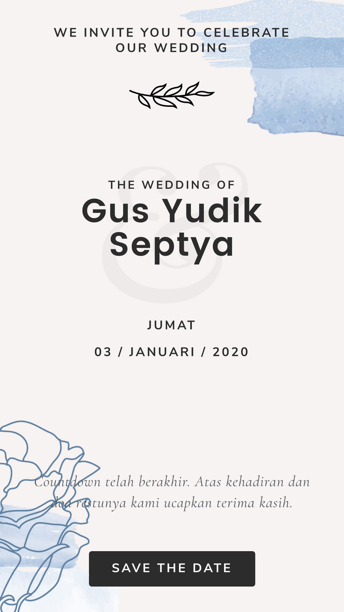 Gusyudik & Septya Wedding - Undangan Online Desain Pramana by Acarakami.com - 006