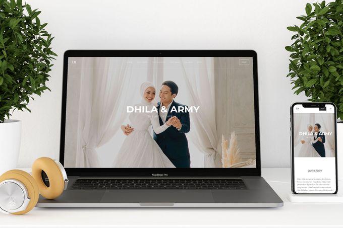 WEDDING WEBSITE - ARMY & DHILA by Our Days & Co - Wedding Website Design - 001