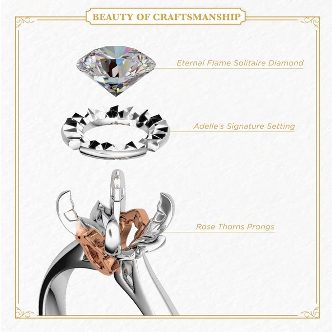 Rose DAmour Wedding Ring Eternal Flame with GemEx Certification by Adelle Jewellery - 003
