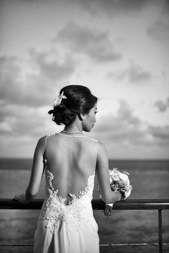 Custom made wedding gown for Shella by Miyuki Liem Bridals - 004