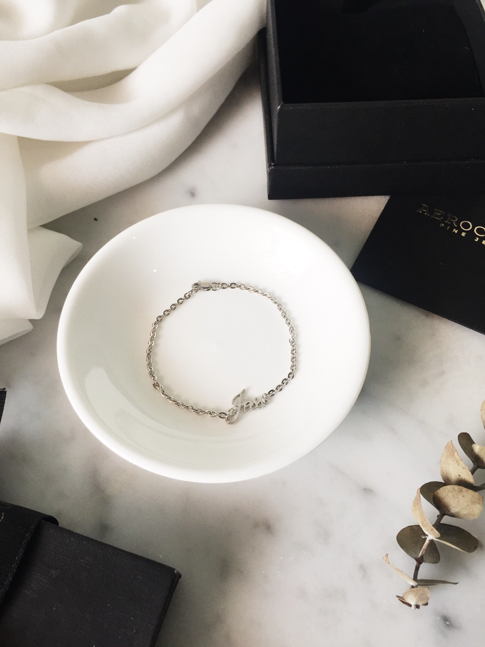 Wilbert 18ct Custom Name Bracelet for his girlfriend by AEROCULATA - 002