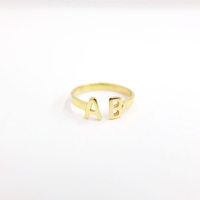 18ct Double Initial Ring by AEROCULATA - 002