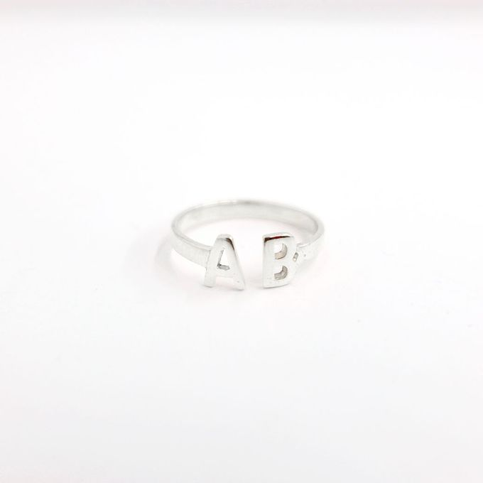 18ct Double Initial Ring by AEROCULATA - 003