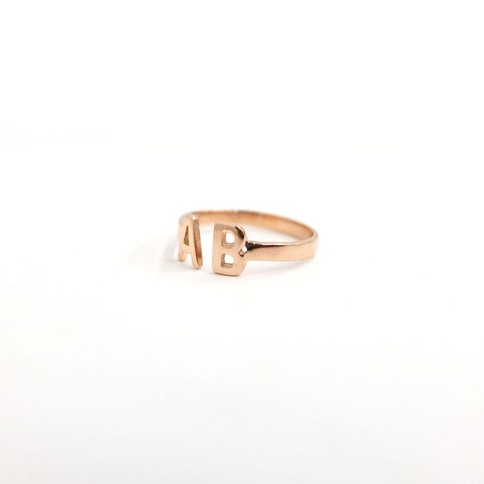 18ct Double Initial Ring by AEROCULATA - 004