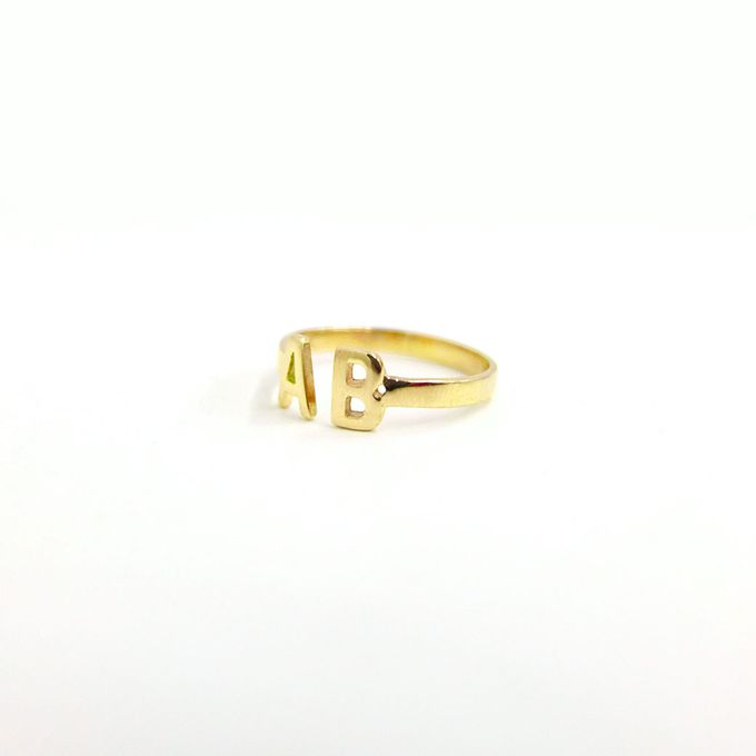 18ct Double Initial Ring by AEROCULATA - 005