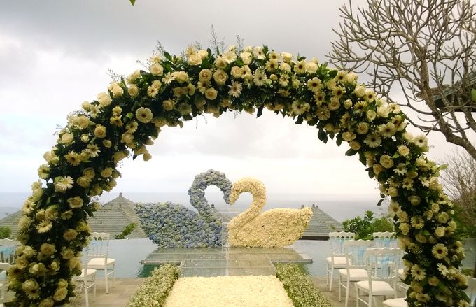our chapel and water wedding decor by Jc Florist Bali - 024