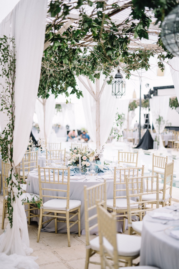 Dusty blue natural  by AiLuoSi Wedding & Event Design Studio - 001