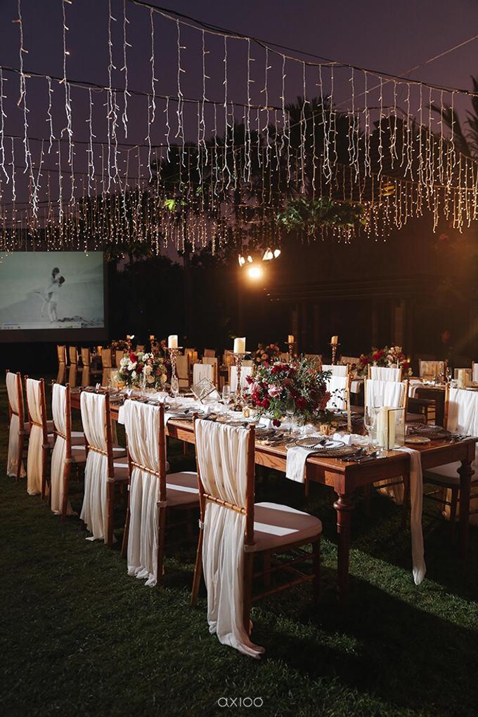 Bold burgundy by AiLuoSi Wedding & Event Design Studio - 001