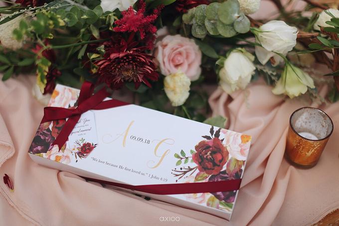 Bold burgundy by AiLuoSi Wedding & Event Design Studio - 006