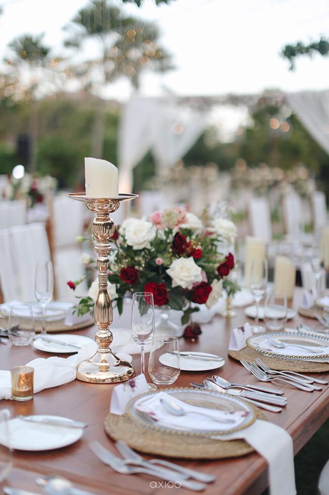 Bold burgundy by AiLuoSi Wedding & Event Design Studio - 008