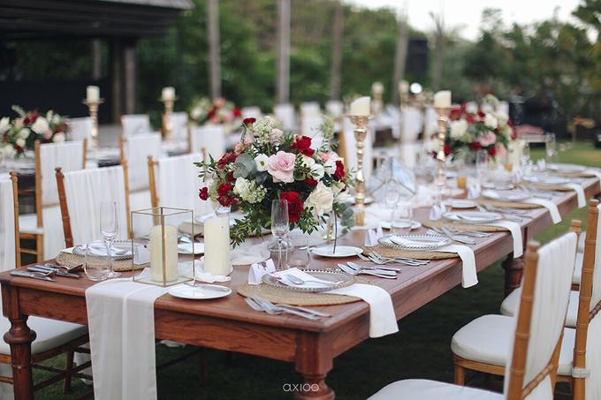 Bold burgundy by AiLuoSi Wedding & Event Design Studio - 011