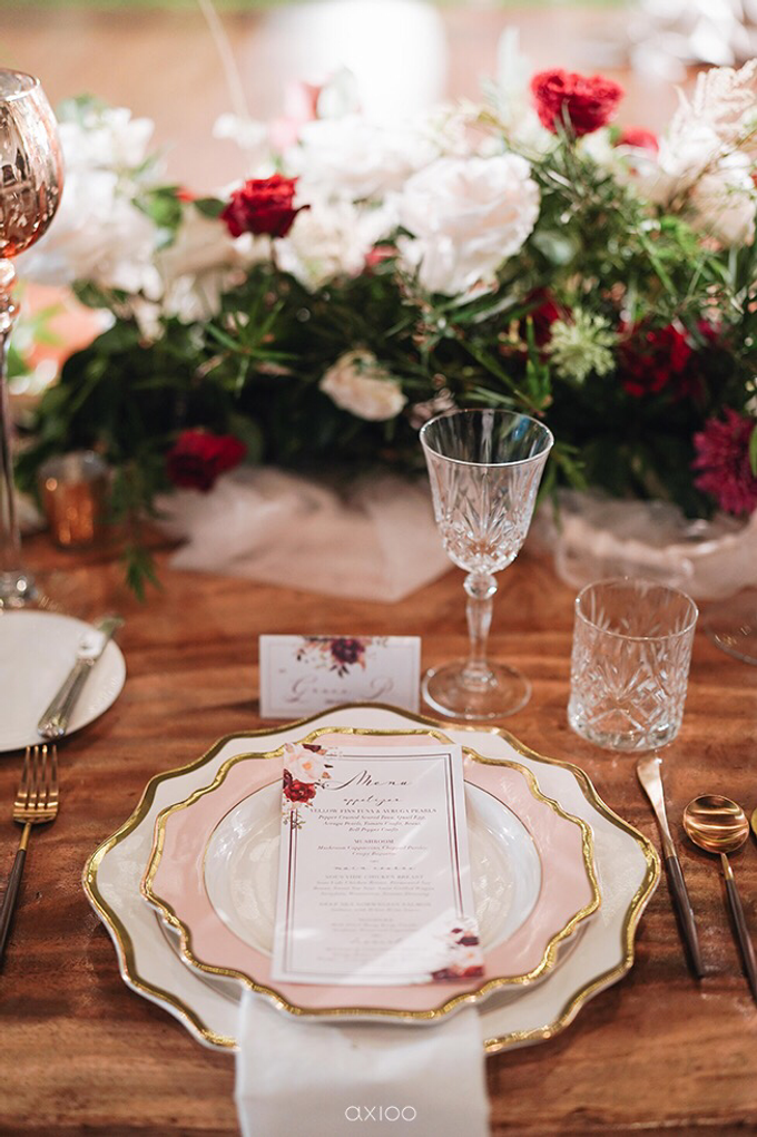 Bold burgundy by AiLuoSi Wedding & Event Design Studio - 023