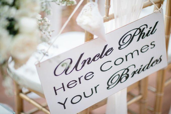 White Elegant Wedding Cliff by Bali Izatta Wedding Planner & Wedding Florist Decorator - 007