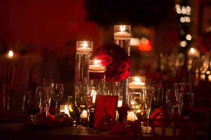 Luxury Christmas Red & Gold Wedding by Diamond Events - 042
