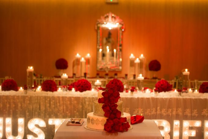 Luxury Christmas Red & Gold Wedding by Diamond Events - 043