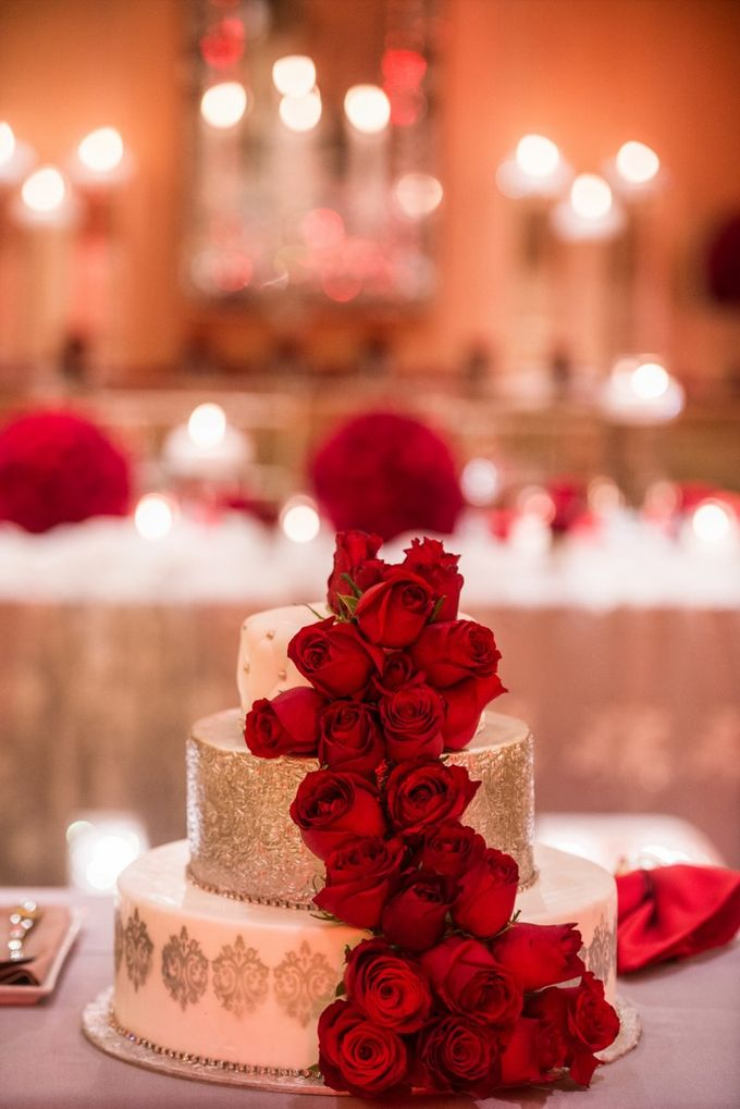 Luxury Christmas Red & Gold Wedding by Diamond Events - 044