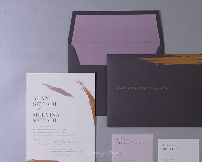 ALWAYS AND FOREVER by BloomingDays Invitation Studio - 001