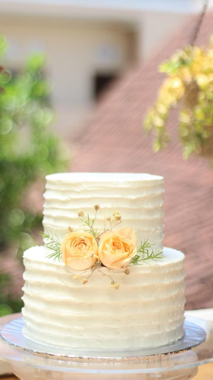 Simple Rustic Wedding Cake by Alycia's Cake - 001