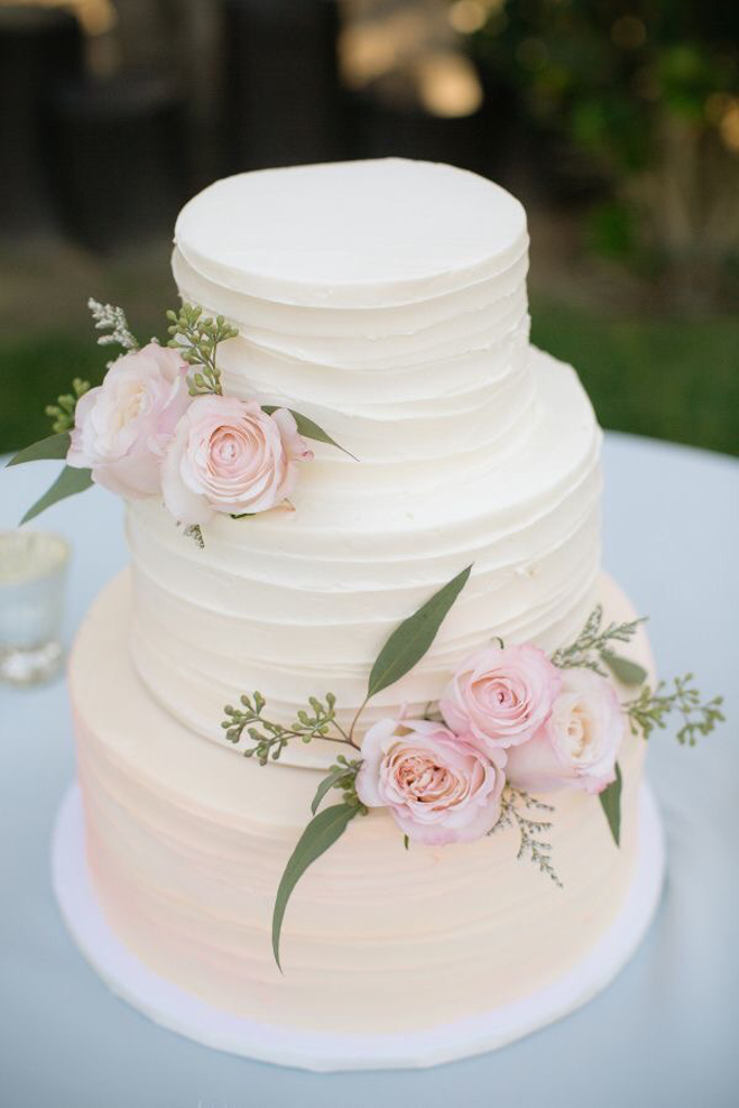 Simple Rustic Wedding Cake by Alycia's Cake - 005