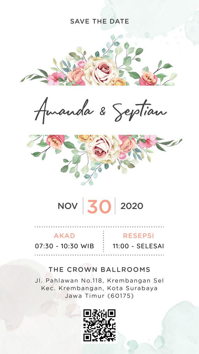 Undangan Grafis Amanda & Septian by Sanone Project Digital / Electronic Invitation - 001