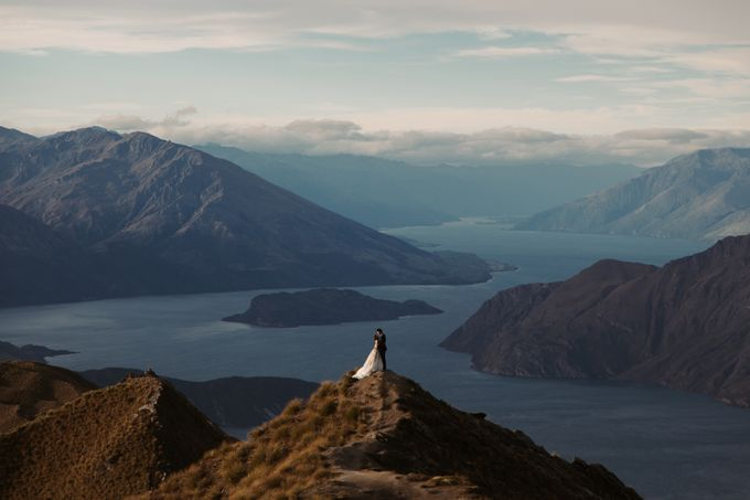 Magnificent New Zealand Prewedding of Amy & Kevin by fire, wood & earth - 009
