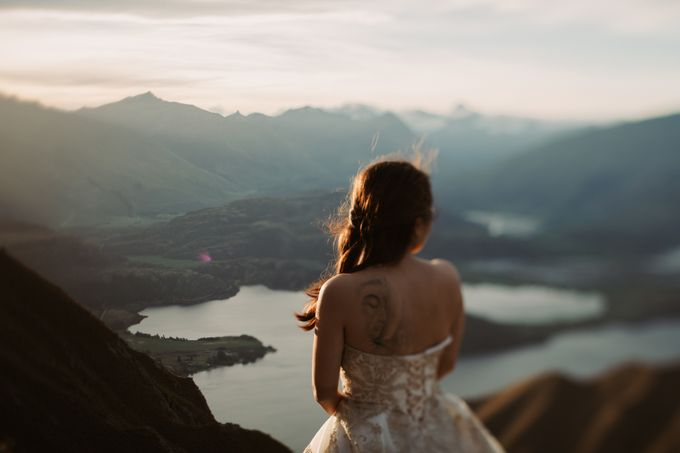 Magnificent New Zealand Prewedding of Amy & Kevin by fire, wood & earth - 015