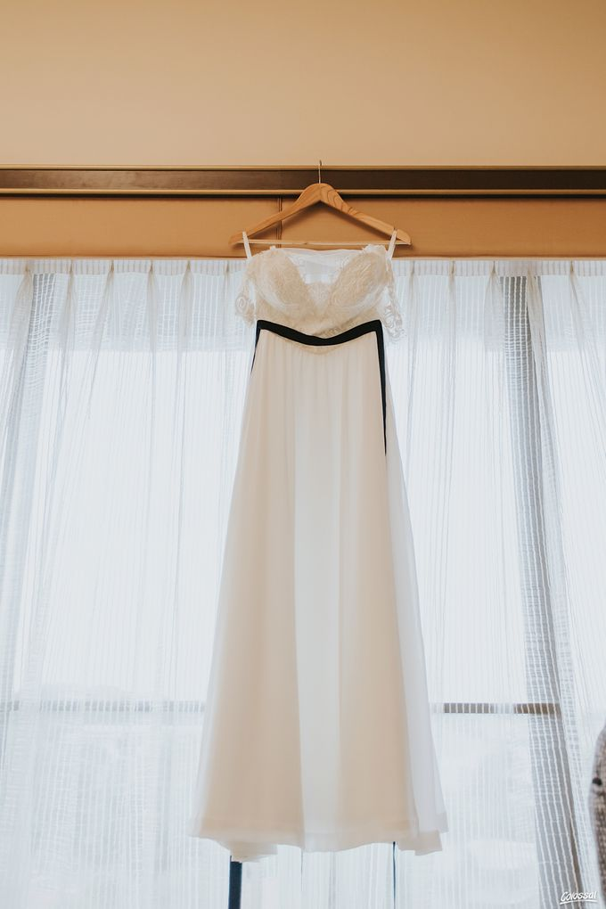 Bespoke wedding dress - Lace & Chiffon by Kelly's Bridals - 002