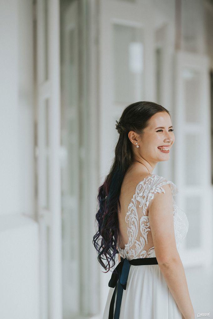 Bespoke wedding dress - Lace & Chiffon by Amperian - 003