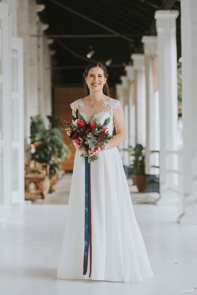 Bespoke wedding dress - Lace & Chiffon by Amperian - 001