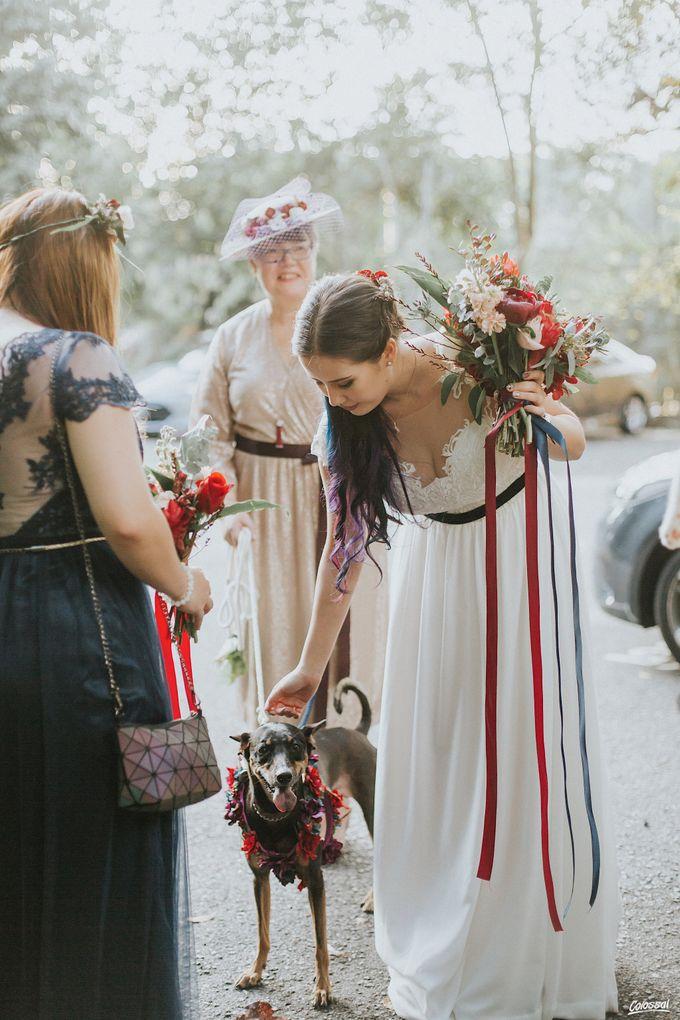 Bespoke wedding dress - Lace & Chiffon by Amperian - 004