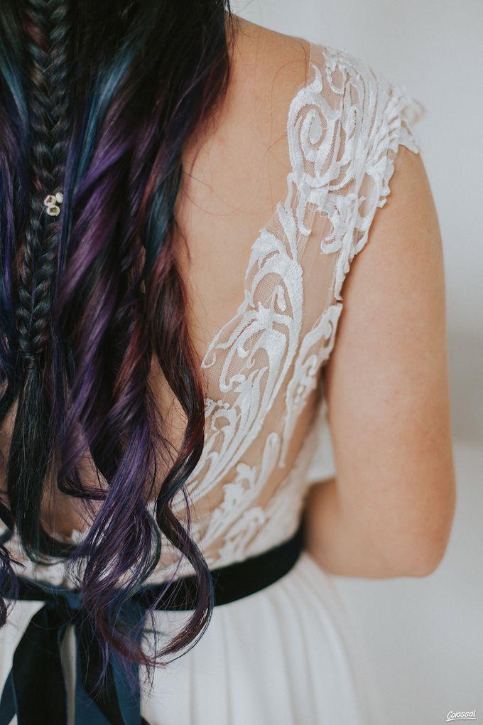 Bespoke wedding dress - Lace & Chiffon by Amperian - 006