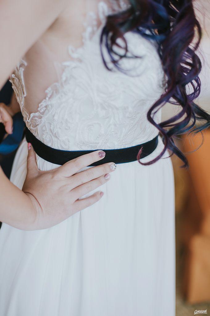 Bespoke wedding dress - Lace & Chiffon by Amperian - 009
