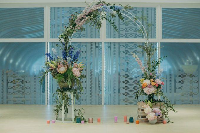 Pastel Rustic wedding ceremony at Imaginarium The Chapel by Eufloria - 014