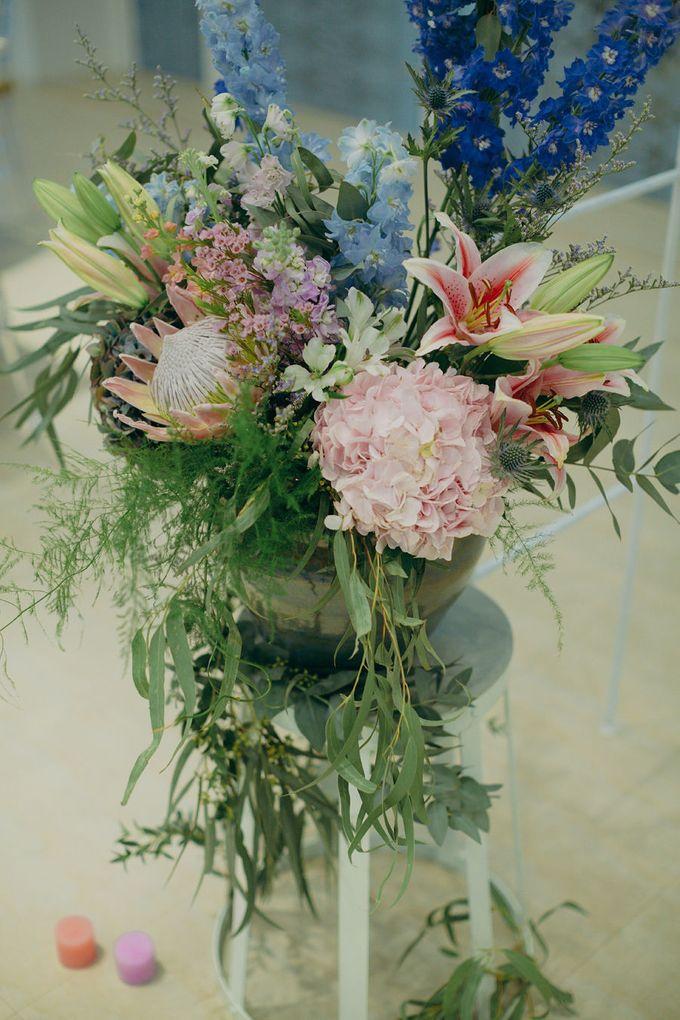 Pastel Rustic wedding ceremony at Imaginarium The Chapel by Eufloria - 016