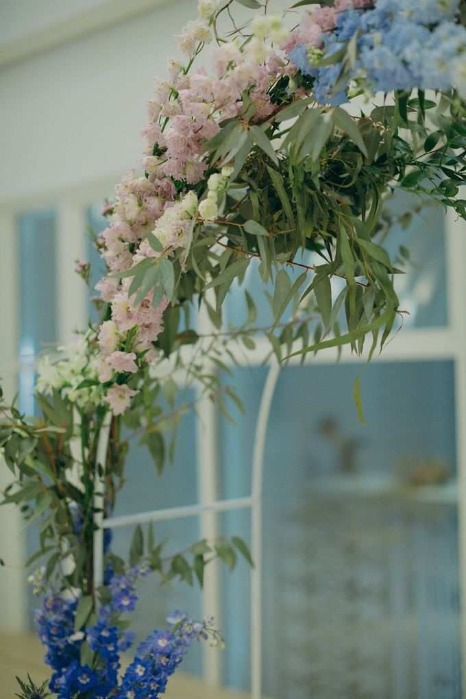 Pastel Rustic wedding ceremony at Imaginarium The Chapel by Eufloria - 017