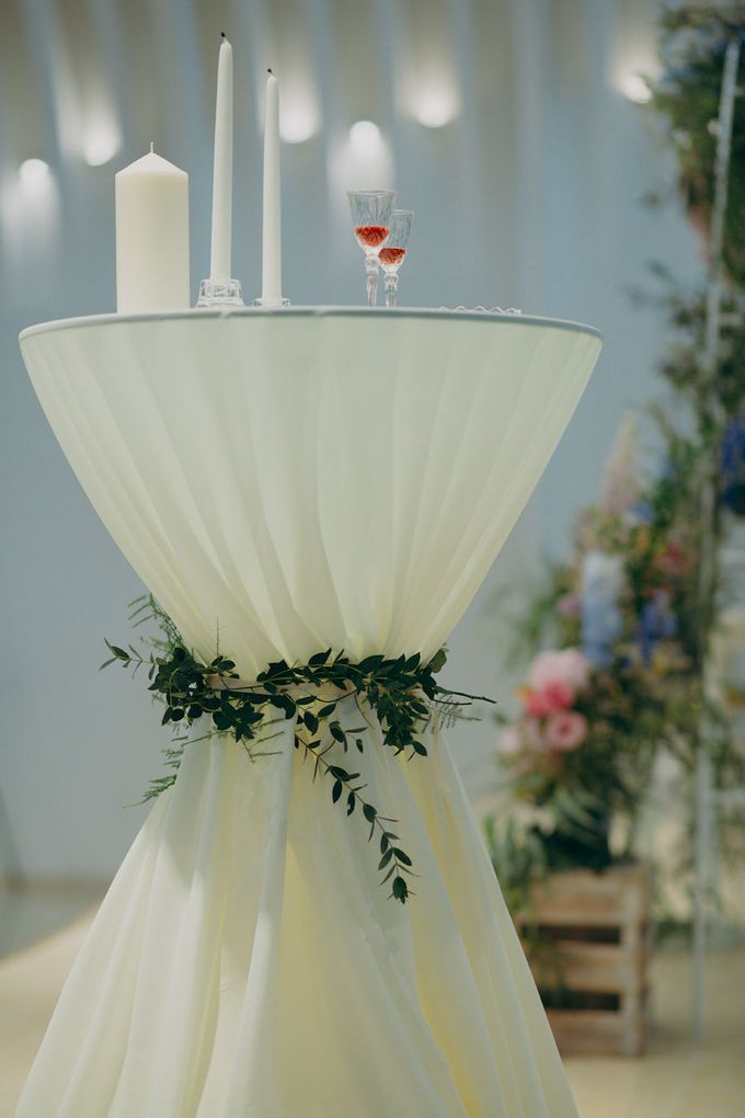Pastel Rustic wedding ceremony at Imaginarium The Chapel by Eufloria - 027