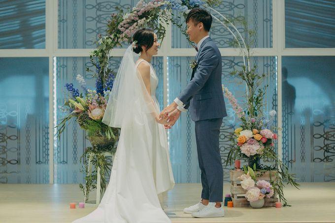 Pastel Rustic wedding ceremony at Imaginarium The Chapel by Eufloria - 038